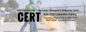 Quarterly CERT Training – July 15th