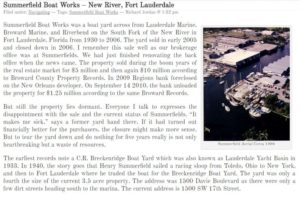 Summerfield Boat Works – New River, Fort Lauderdale