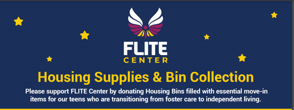 Household Goods Drive to support FLITE Youth Services